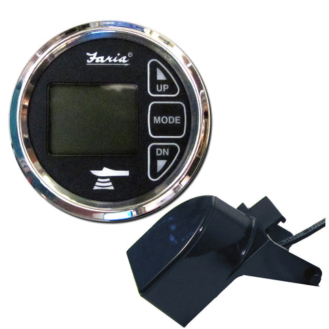 "Faria Chesapeake Black 2"" Dual Depth  Temp Sounder w/Transom Mount Transducer [13752]"