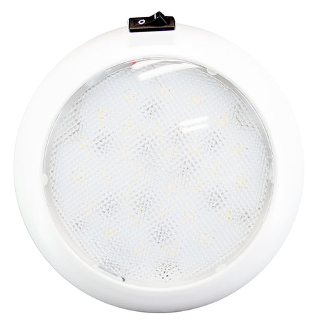 "Innovative Lighting 5.5"" Round Some Light - White/Red LED w/Switch - White Housing [064-5140-7]"