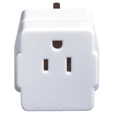 USA VISITOR ADAPTOR (GROUNDED)