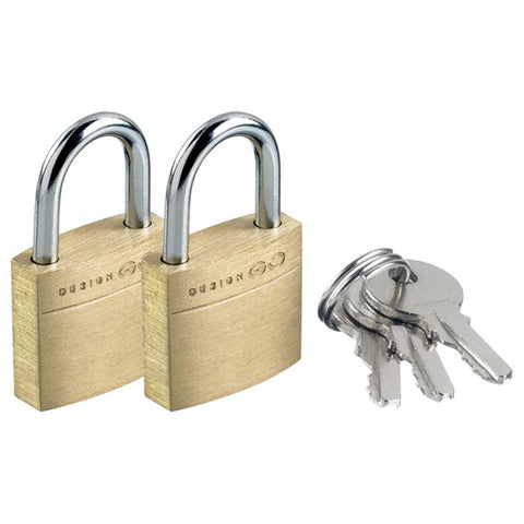 CASE PADLOCK SOLID BRASS (2PK)