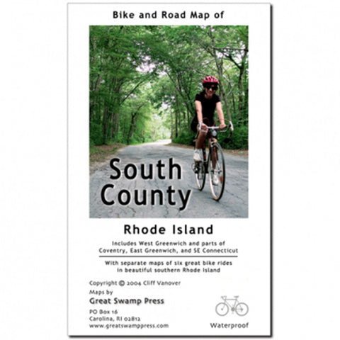 SOUTH COUNTY RI BIKE/ROAD MAP