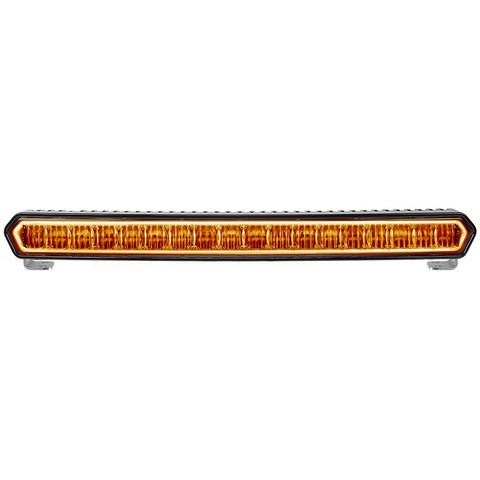 "RIGID Industries SR-L Series 20"" Off-Road LED Light Bar - Black w/Amber Halo Back Lighting [63003]"