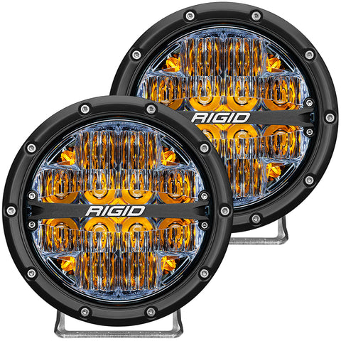 "RIGID Industries 360-Series 6"" LED Off-Road Fog Light Drive Beam w/Amber Backlight - Black Housing [36206]"