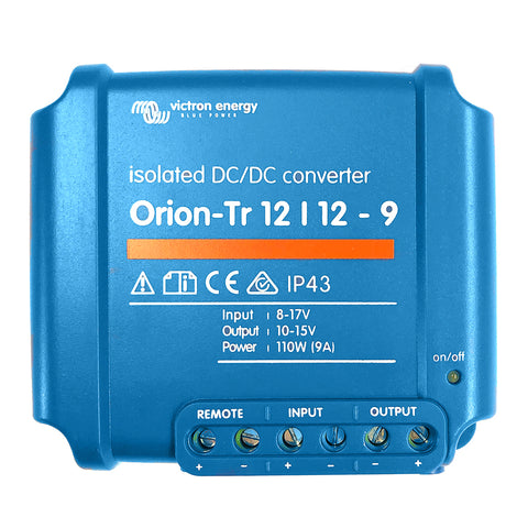 Victron Orion-TR DC-DC Converter - 12 VDC to 12 VDC - 9AMP Isolated [ORI121210110R]