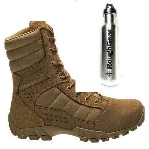 "Bates E08670 Men's Cobra 8"" Hot Weather Boot Bundle"