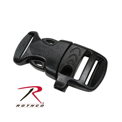Rothco Whistle Side-Release Black Buckle 3-4""