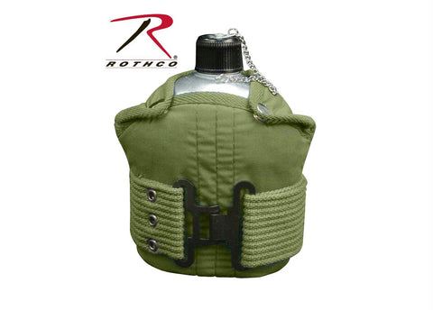 Rothco Aluminum Canteen And Pistol Belt Kit