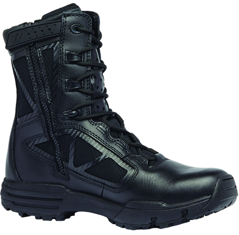 Belleville Tactical Research TR Chrome TR918Z: 8 Inch Hot Weather Side Zip Boot