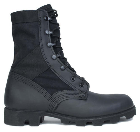 McRae Hot Weather All Black Jungle Boot with Panama Outsole Style #9189