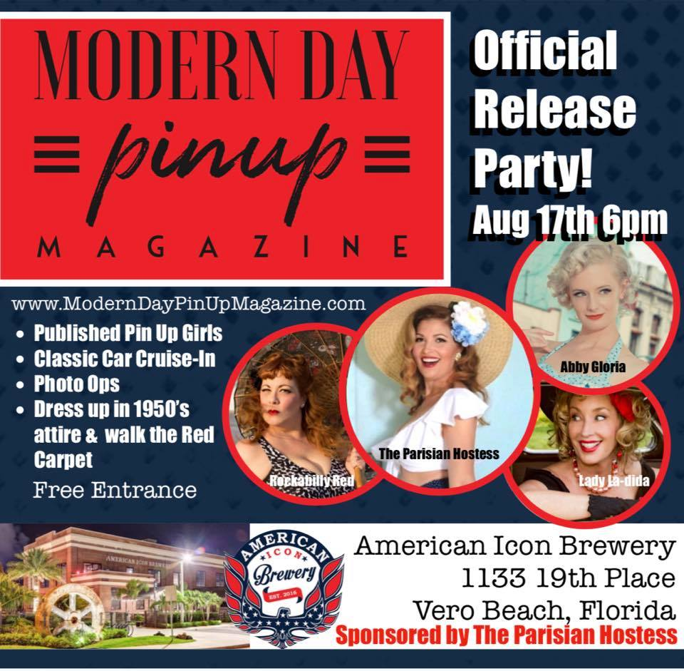 The Modern Day Pin Up Magazine Release Party!