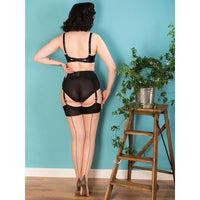 Seamed Stockings Contrast Black Glamour