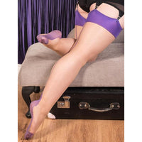 Seamed Stockings Purple Glamour What Katie Did