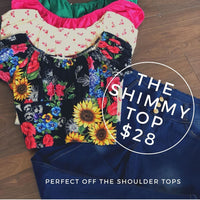 Shimmy Top Emerald