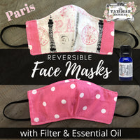 *IN STOCK* The Parisian Hostess Reversible Face Mask with 10 ml Essential Oil Kit and filter