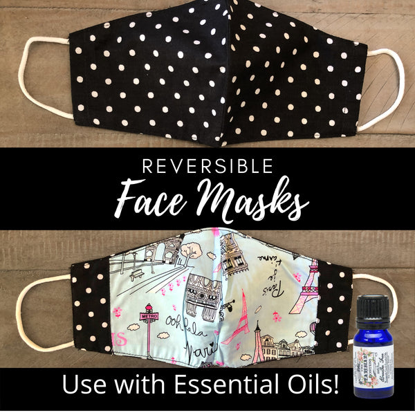 The Parisian Hostess Reversible Face Mask - Paris in Spring