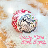 LIMITED EDITION Candy Cane Bath Bombs