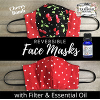 The Parisian Hostess Reversible Face Mask with 10 ml Essential Oil Kit and filter