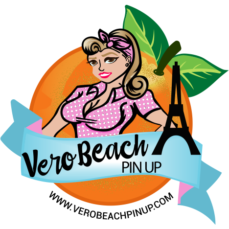 Vero Beach Pin Up Sticker