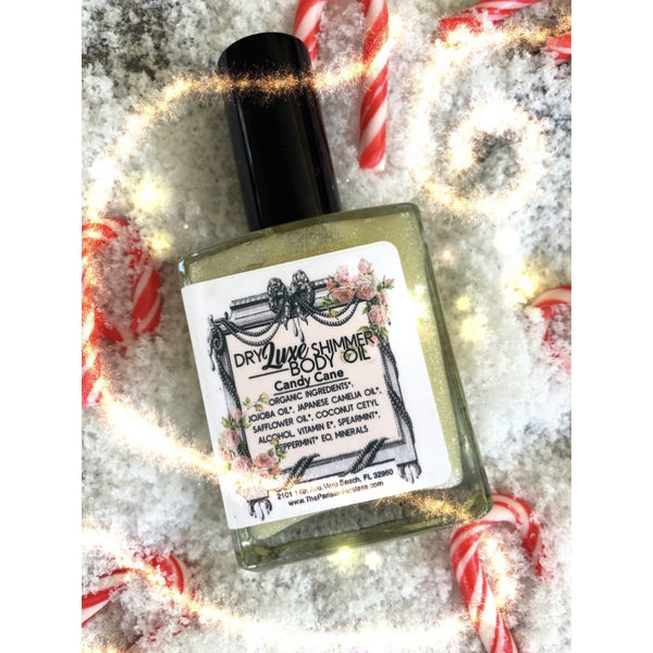 LIMTED EDITION Candy Cane Dry Luxe Shimmer Body Oil