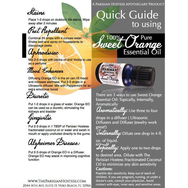 Sweet Orange- Certified Therapeutic Grade Essential Oil 10 ML