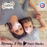 "Mommy & Me Children's Reversible Face Mask ""I Love Paris"" with 10 ml Essential Oil Kit and filter"