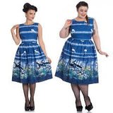 Hell Bunny Montana Blue Deer Print 50's Dress