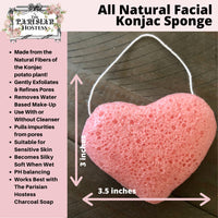 All Natural Fiber Konjac Sponge