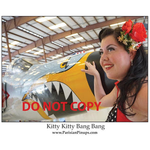 Signed 8x10 photo of Parisian Pinup- Kitty Kitty Bang Bang