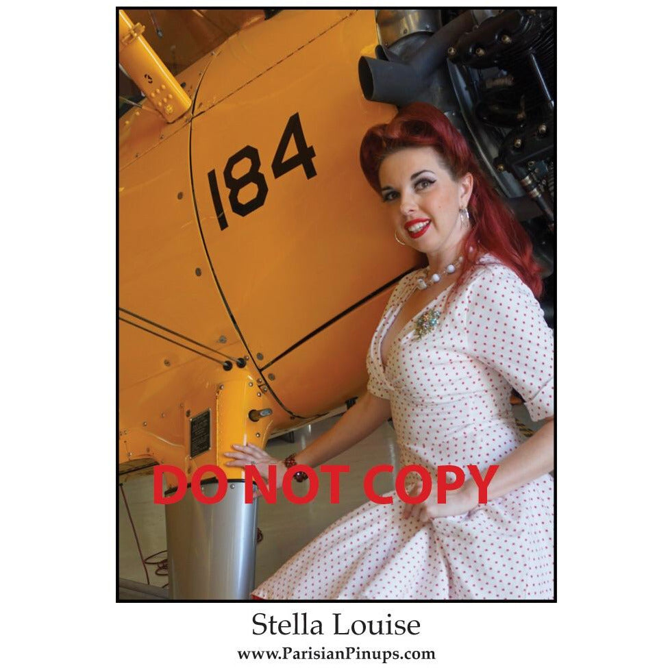 Signed 8x10 photo of Parisian Pinup- Stella Louise