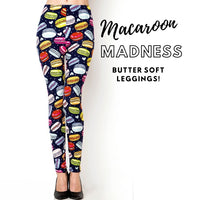 Butter Soft Leggings Macaroon Madness Plus size