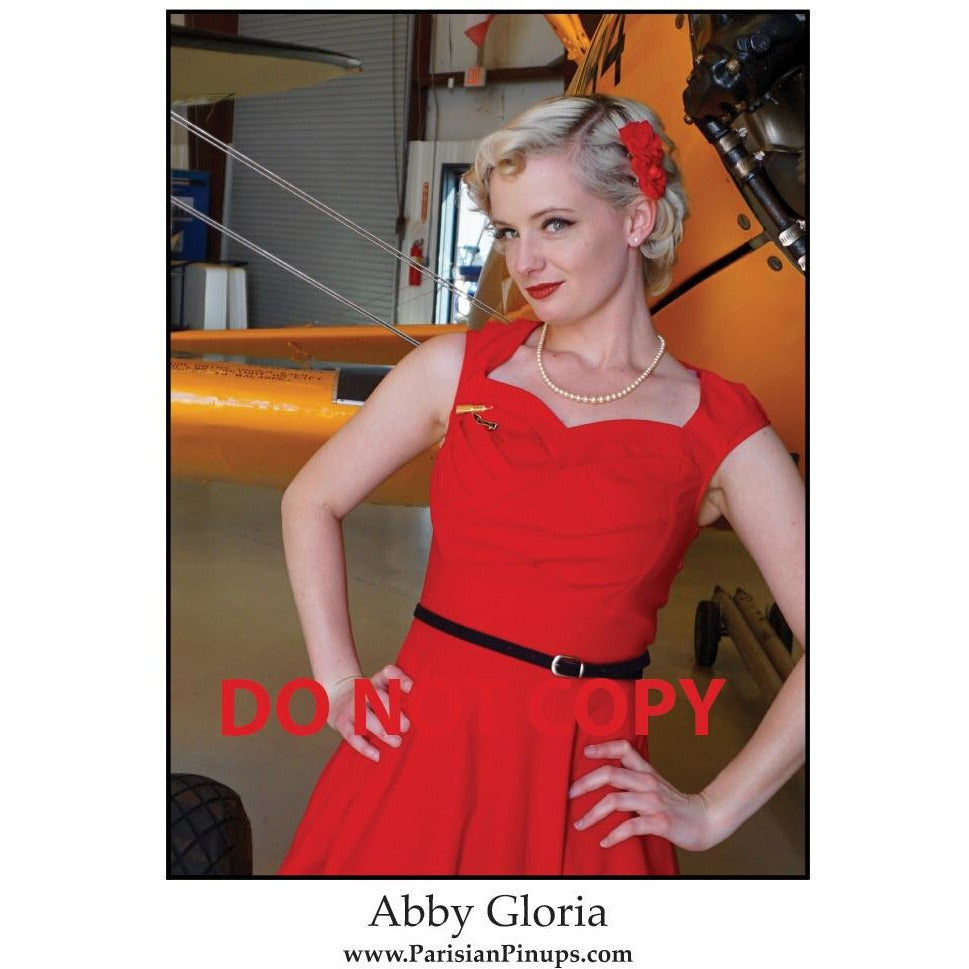 Signed 8x10 photo of Parisian Pinup- Abby Gloria