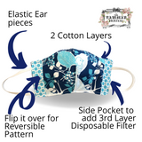 The Parisian Hostess Reversible Face Mask with 10 ml Essential Oil Kit and filter MENS- Marvel
