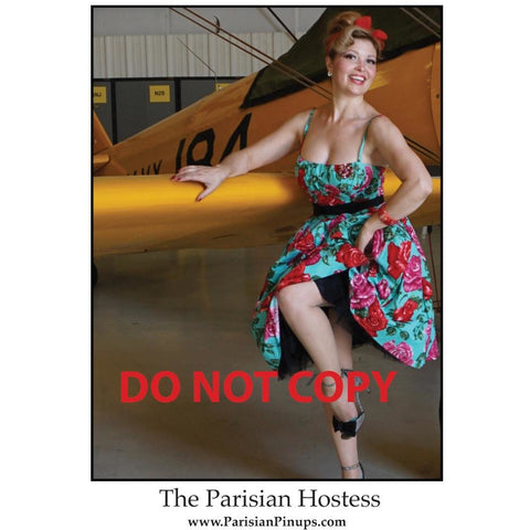 Signed 8x10 photo of Parisian Pinup- The Parisian Hostess