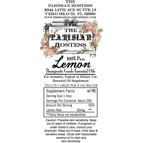 Lemon- Certified Therapeutic Grade Essential Oil 10 ML