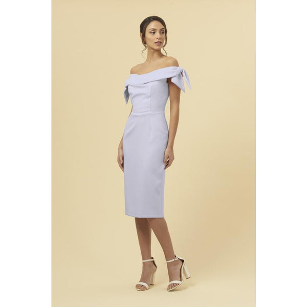 Tilly Off The Shoulder Bow Pencil Dress