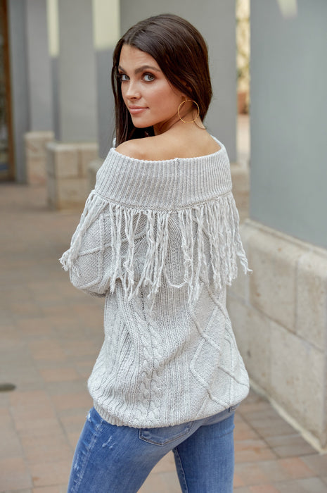 The Aspen Fringe Sweater
