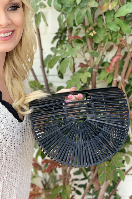It's All About the Bamboo Ark Purse Black