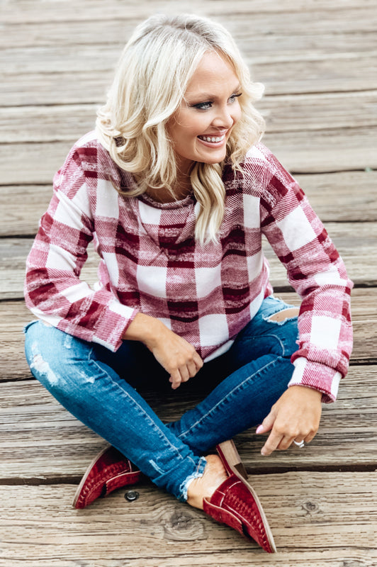 Vineyard Tour Plaid Pullover
