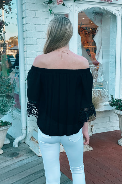 Amore Lace Off The Shoulder Top