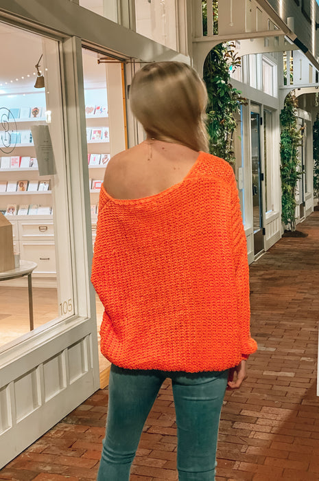 In Love Chenille Sweater Coral