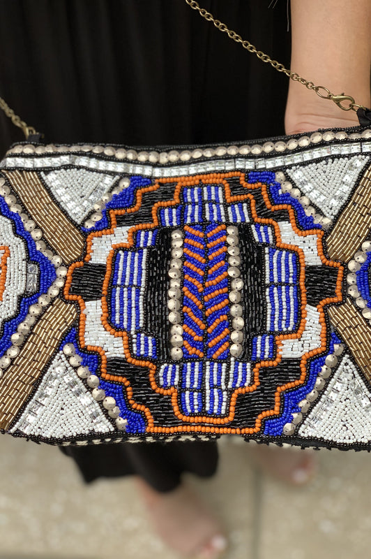 Party Time Beaded Clutch