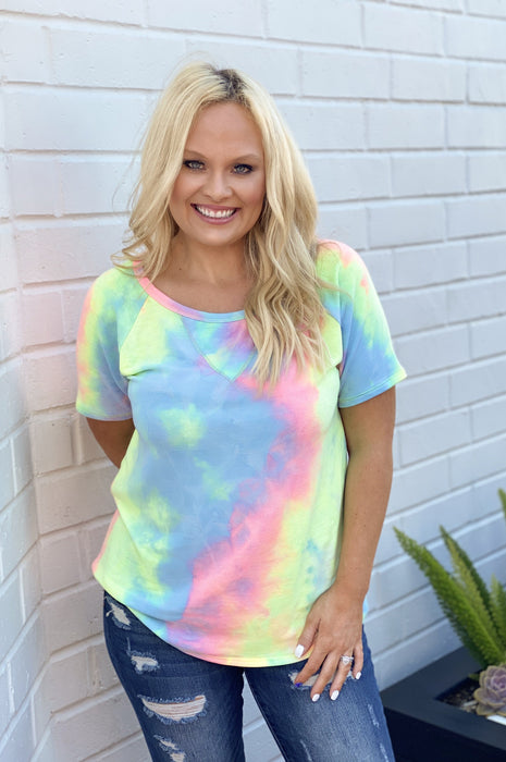 Tie Dye T-Shirt Fun Mulit Blue