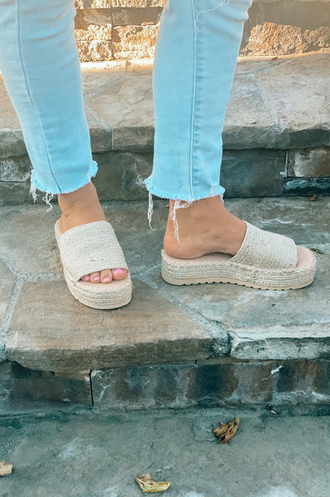 The Sun is Shining Straw Wedges Natural