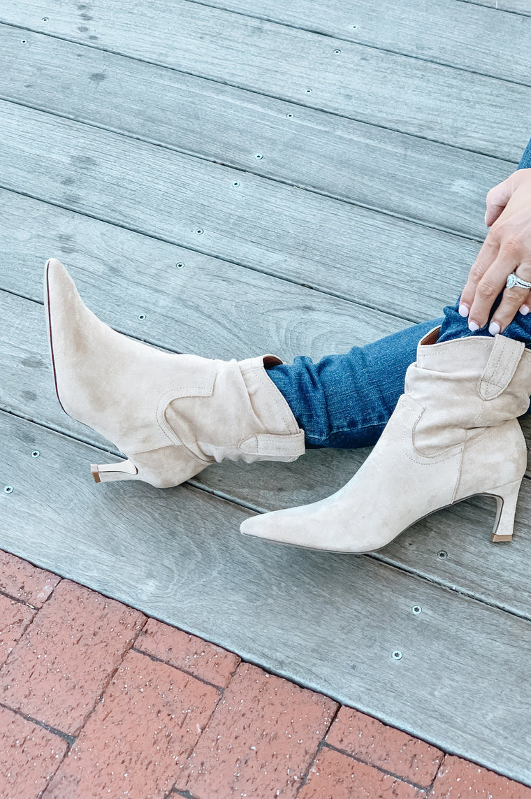 The Louie Kitten Heel Bootie