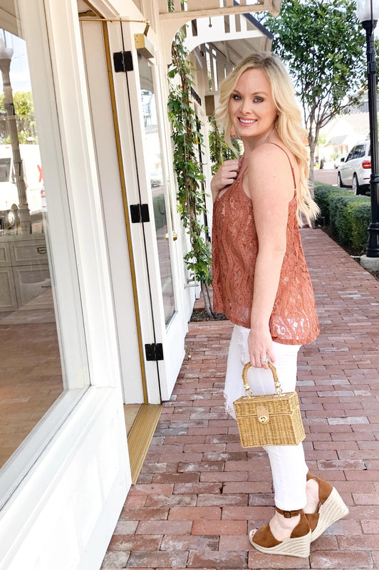 Chai Spiced Lace Tank