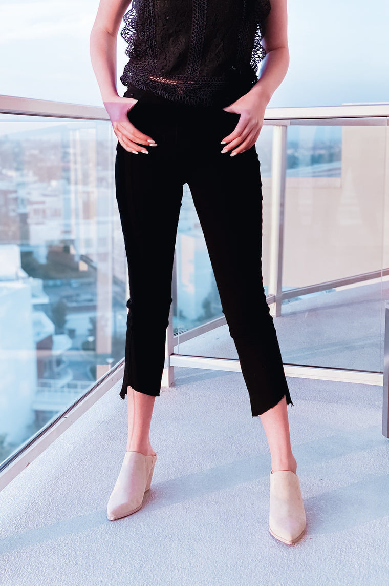 Pacific City Skinny Crop Pants Black