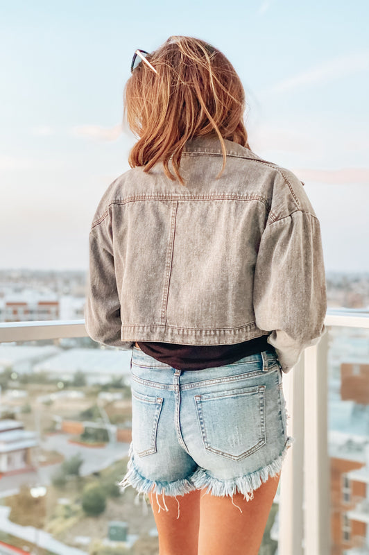The Downtown Grey Denim Jacket