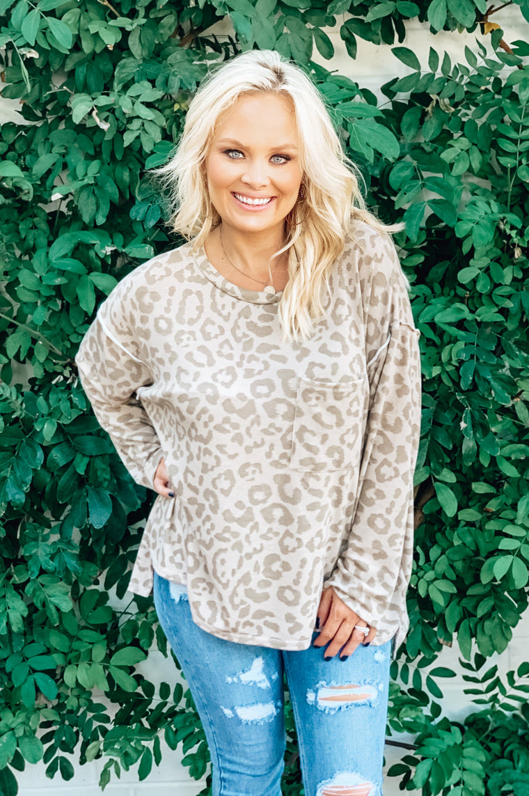 Lounging Leopard Pullover