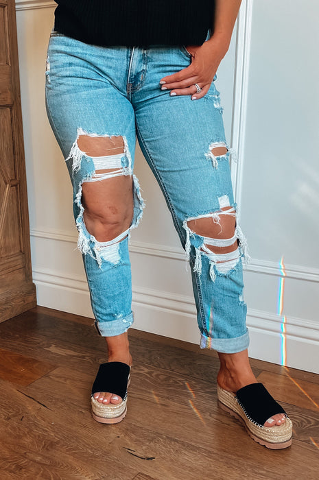Tearing it Up Distressed Denim Jeans