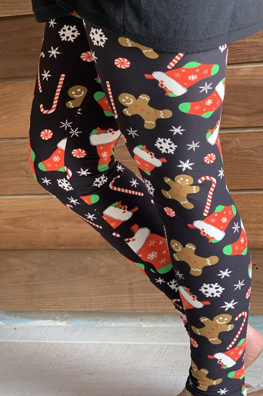 Christmas Stockings and Gingerbread Leggings